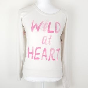 Chaser pullover sweater wild at heart Sz XS-S